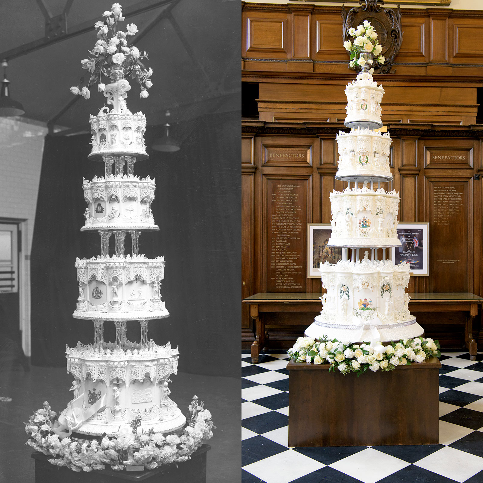 queen elizabeth ii wedding cake le cordon bleu recreated elizabeth s wedding 18935