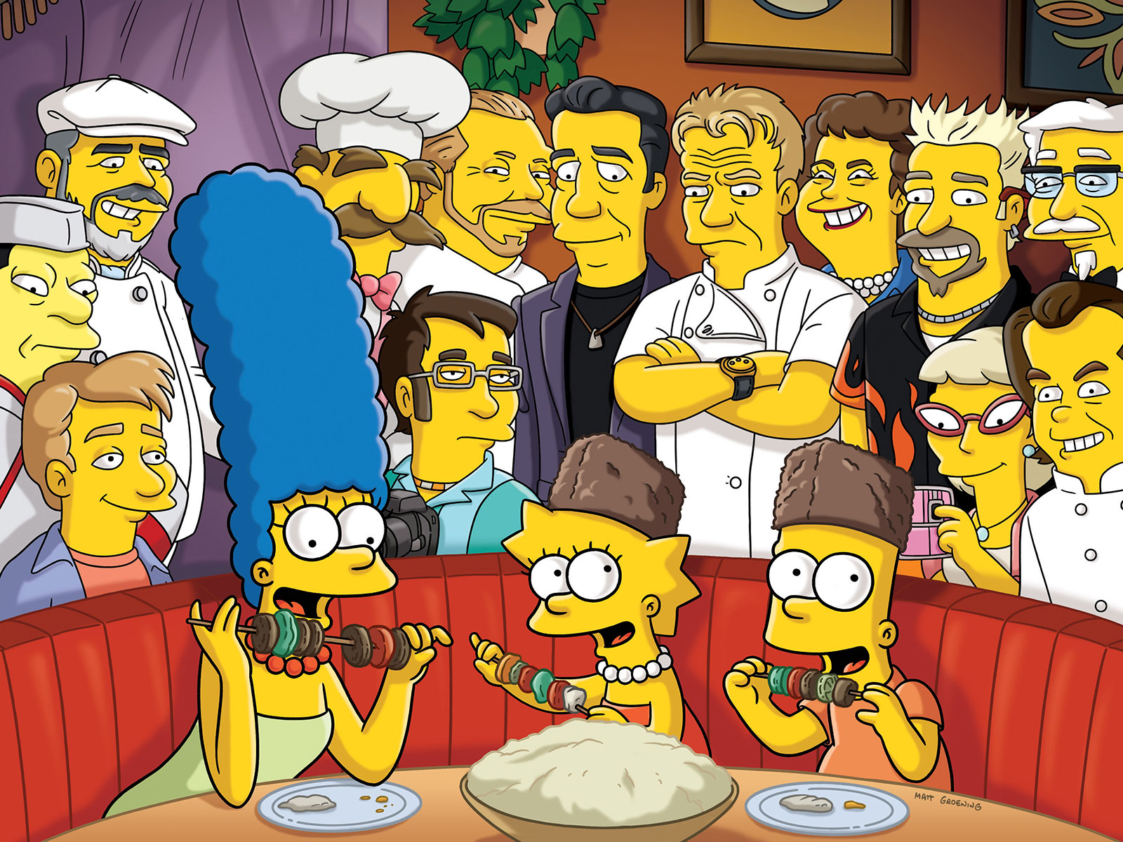 Every Celebrity Chef and Cooking Personality That's Been On The Simpsons