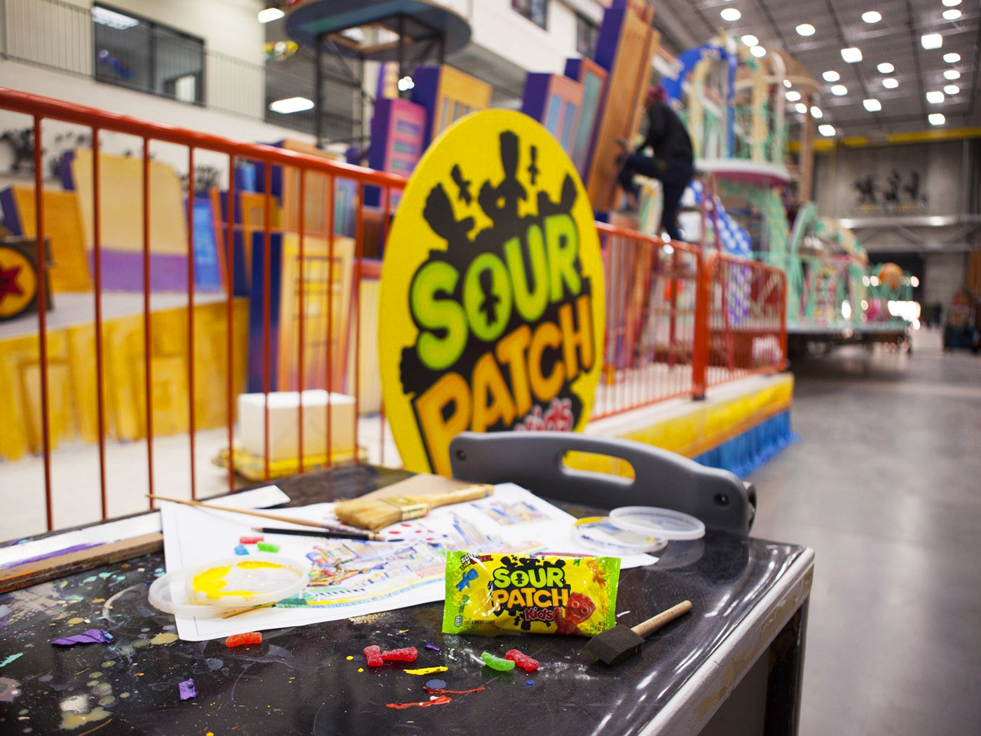 sour patch kids at macy's parade