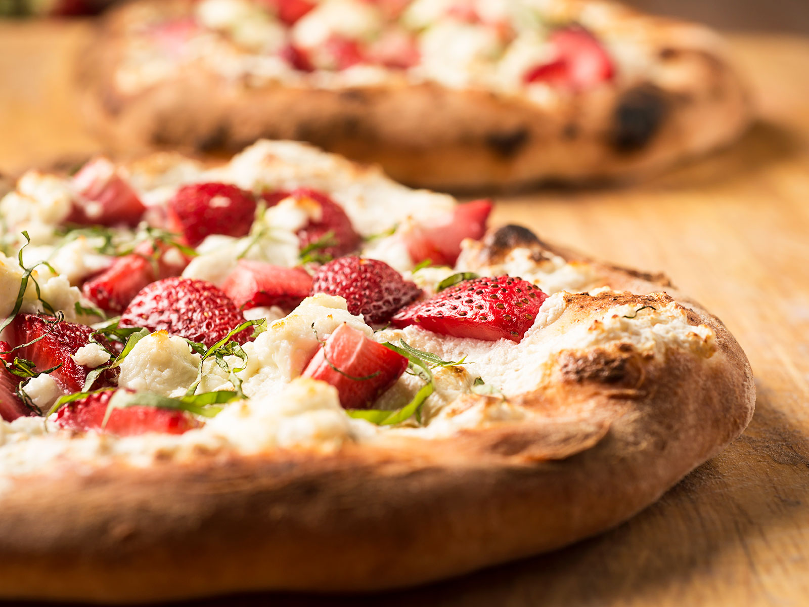 strawberries on pizza