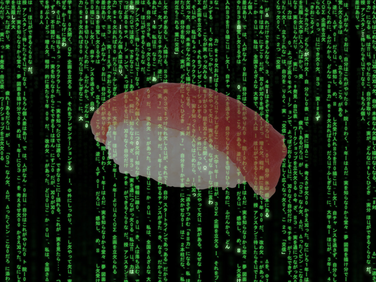 the  matrix  code was inspired by sushi recipes food   wine