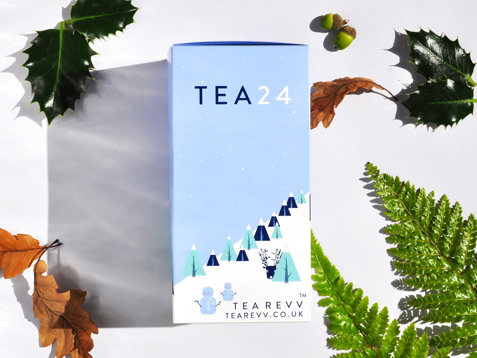 boxed advent calendar of tea bags
