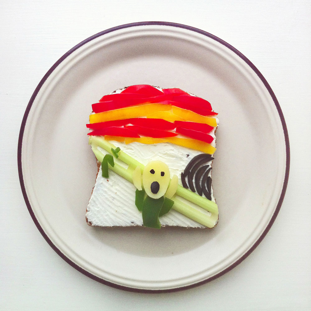 The Scream Food Art