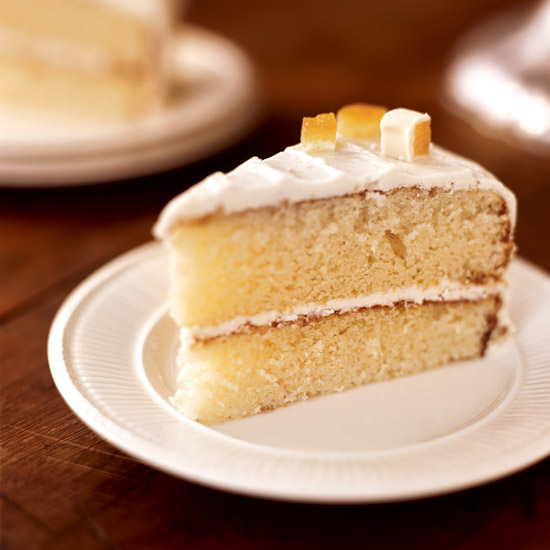 White Chocolate Cake with Orange Marmalade Filling