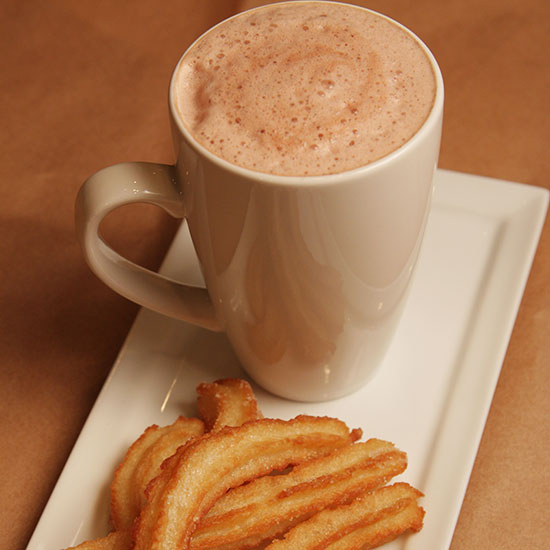 churros with nutella sauce mexican hot chocolate mexican hot chocolate ...