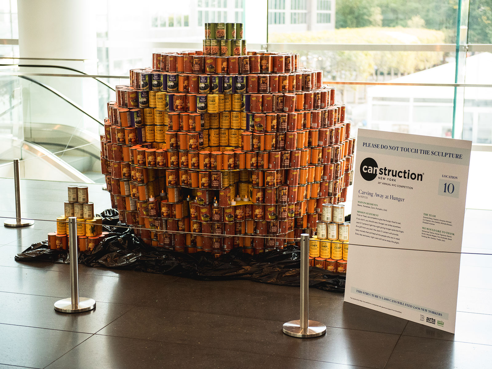 pumpkin jack o lantern canstruction