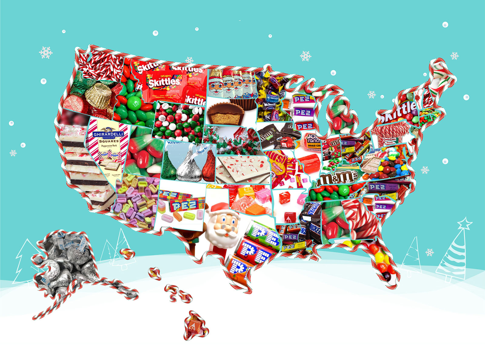 christmas candy map