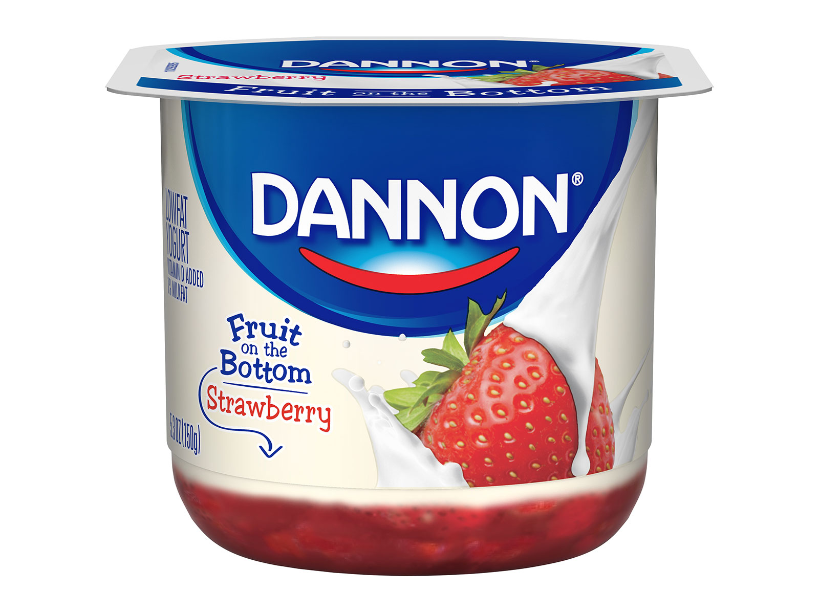 current packaging of dannon yogurt fruit filled