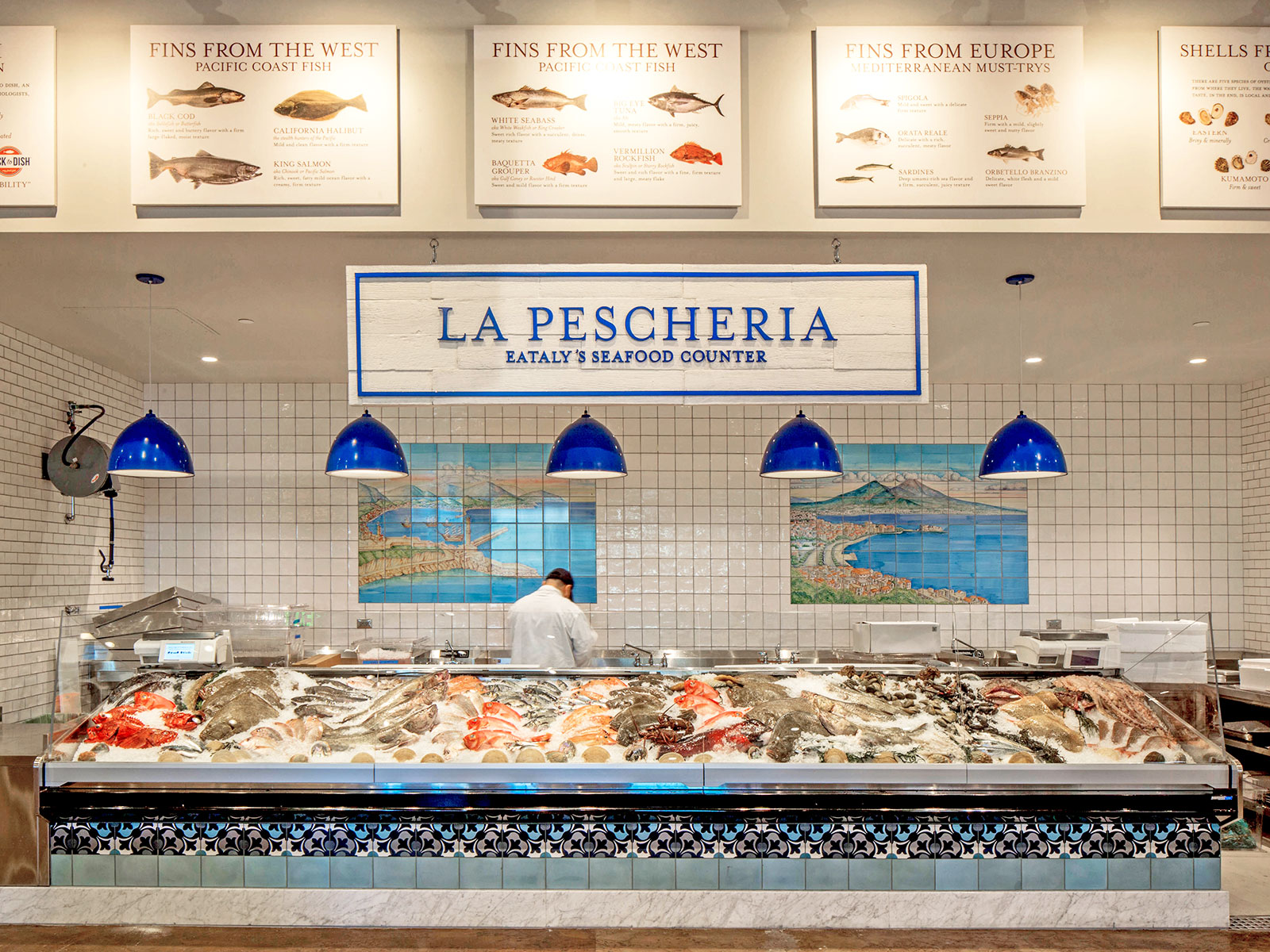 seafood station in eataly