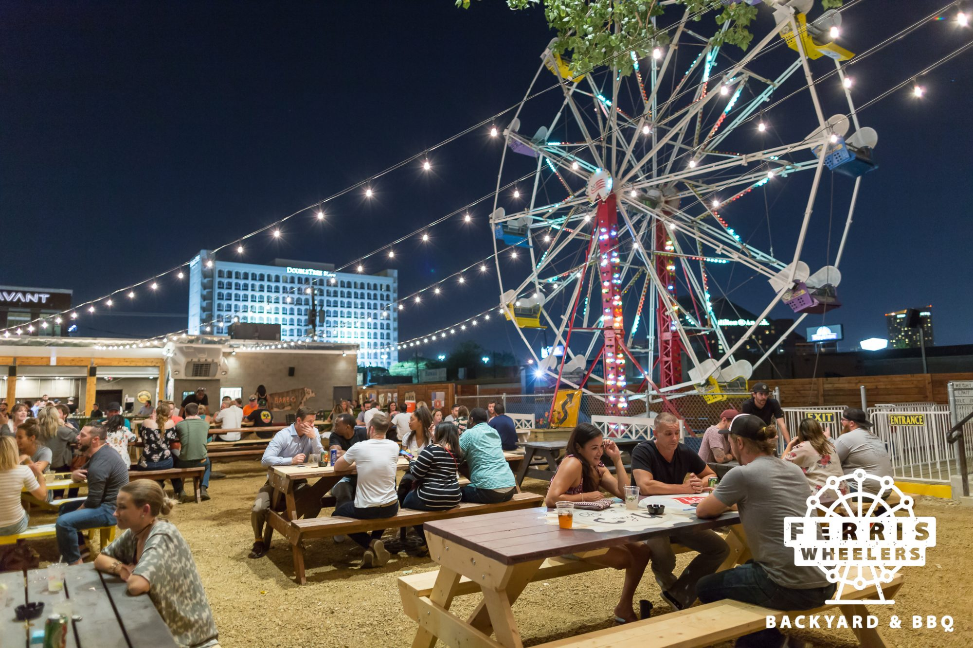 This BBQ Restaurant Has a 50-Foot Ferris Wheel Out Back