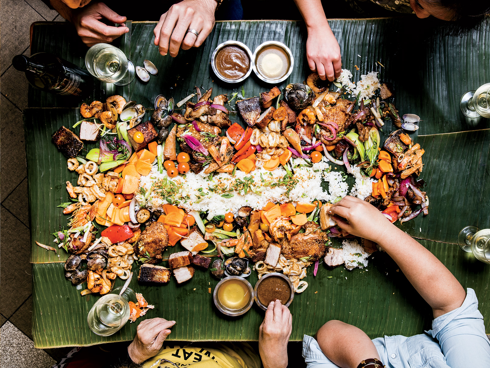 Getting festive filipino style food wine for Cuisine in tagalog