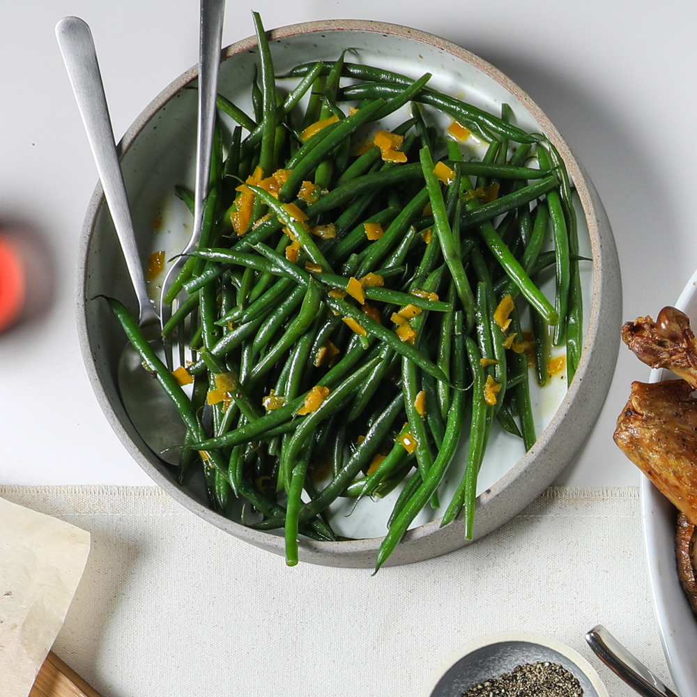 Green Beans with Preserved Lemon