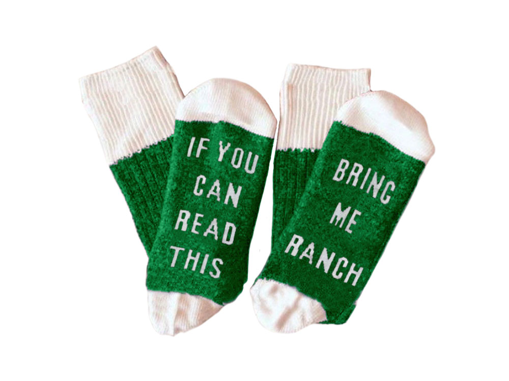 warm fuzzy ranch socks