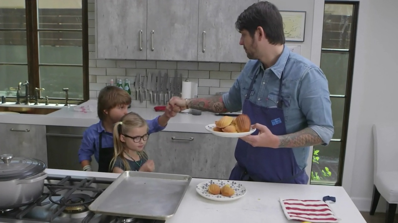 Ludo Lefebvre and Son Teach You To Bake Orange Madeleines
