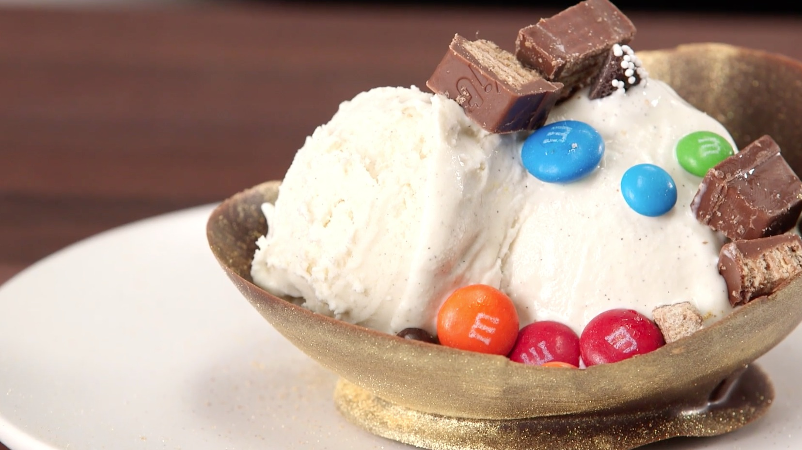 Making Golden Chocolate Ice Cream Bowls is Easy With This Mad Genius Tip