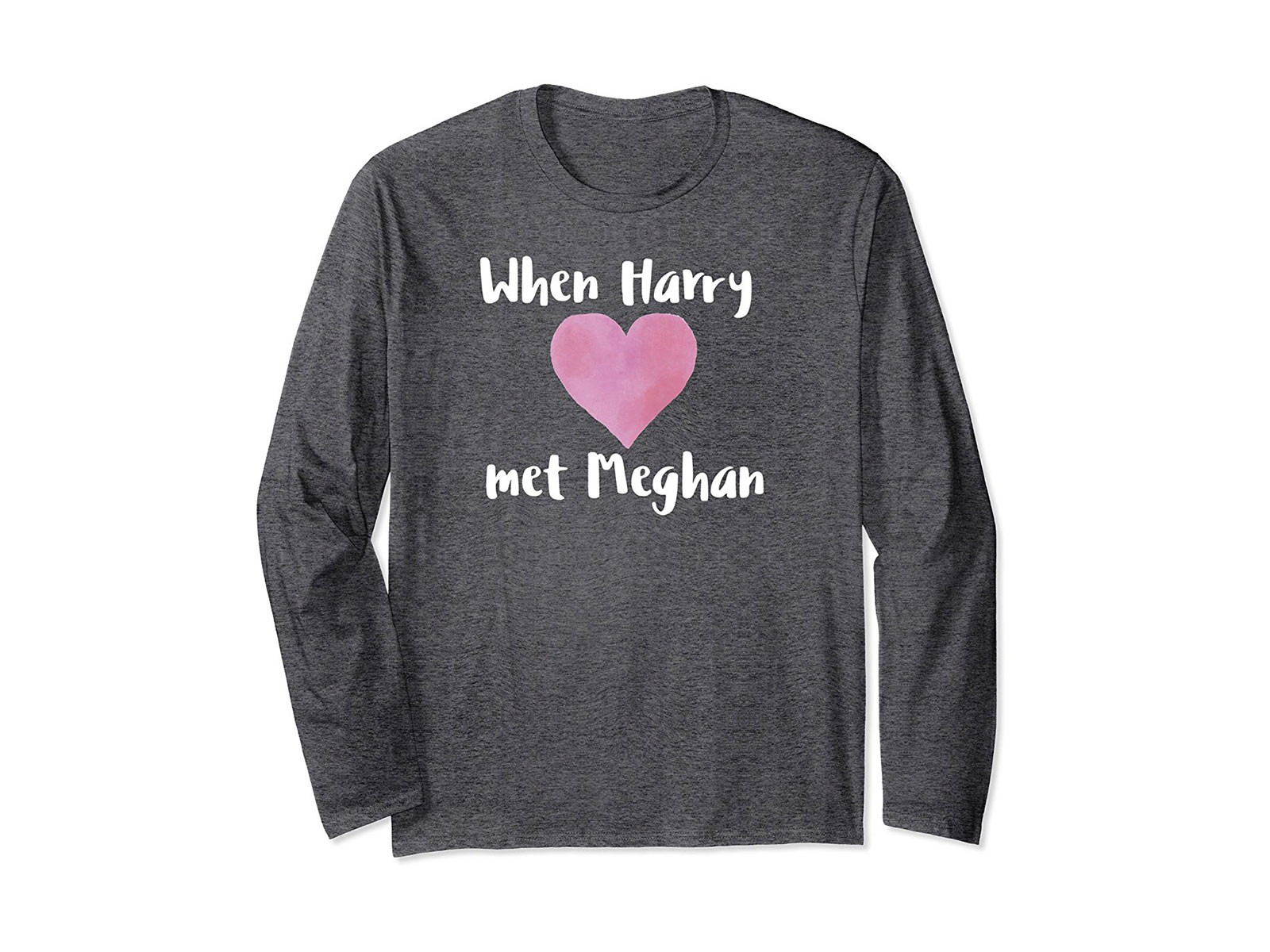 long sleeve gray shirt prince harry and markle engagement