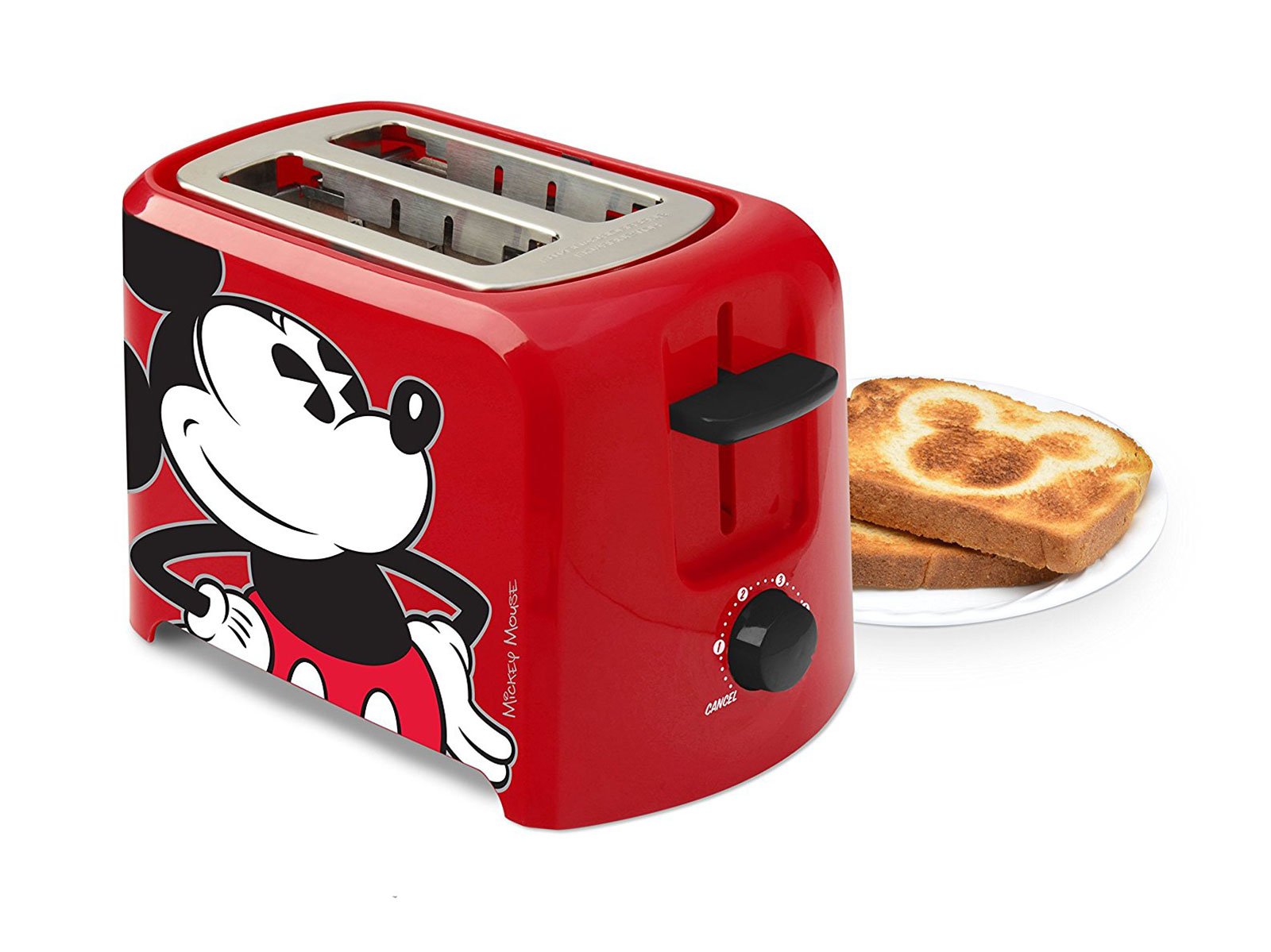 toaster with mickey mouse shape