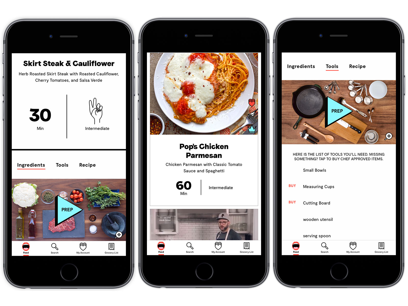 in app images of project foodie