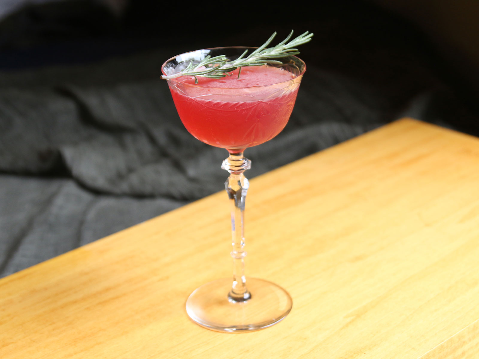 Rosemary-Cranberry Sour