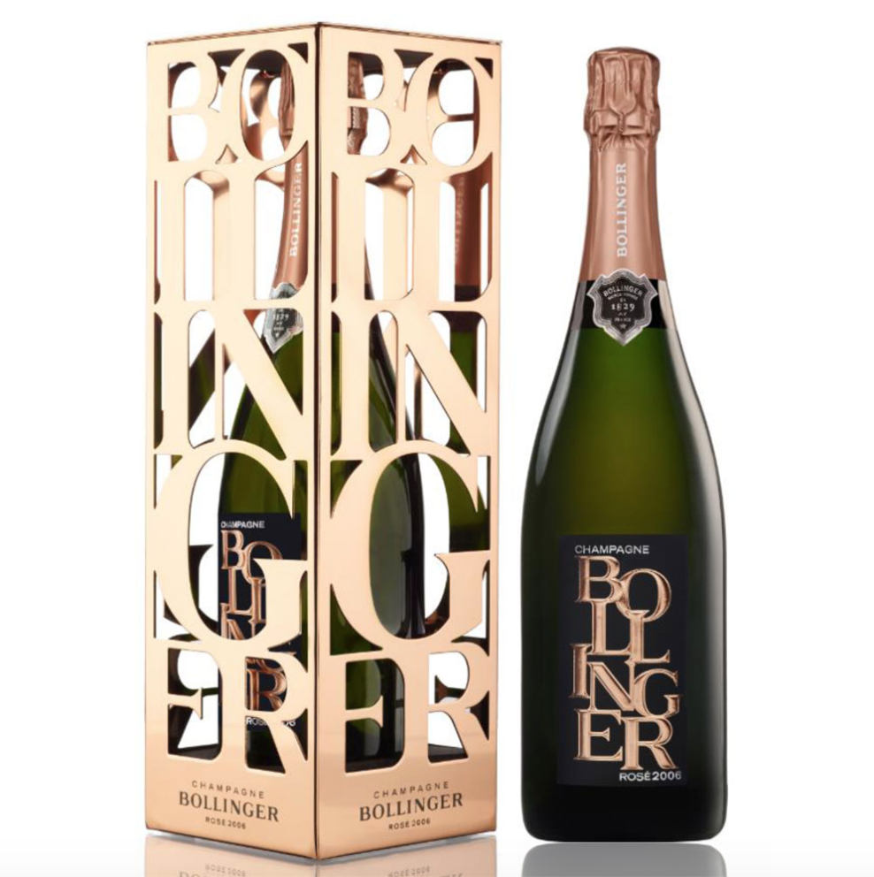 Bollinger Limited Edition Brut Rosé in Metal Gift Box 2006