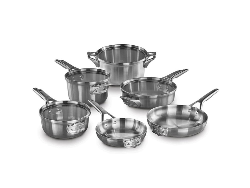 williams sonoma calphalon space saving stainless steel