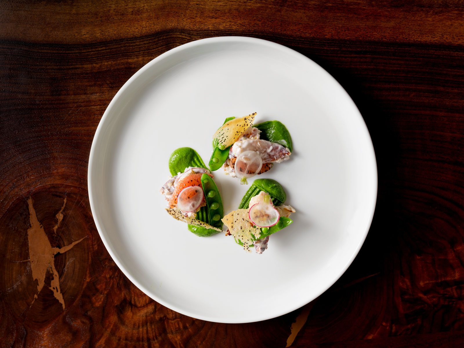 Crab with Spring Peas and Radish