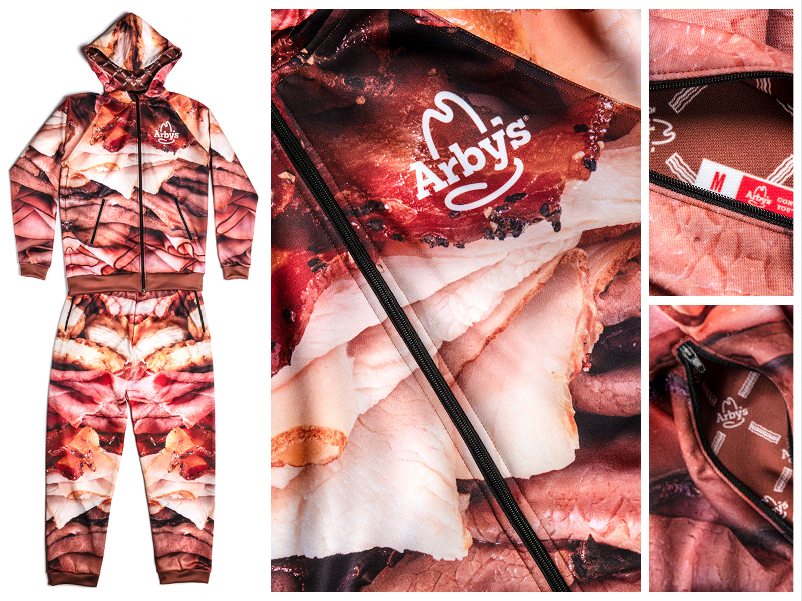 arbys meat sweats detail photographs