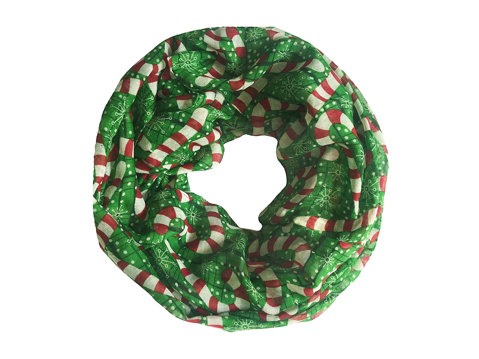 green uniscarf with candy canes