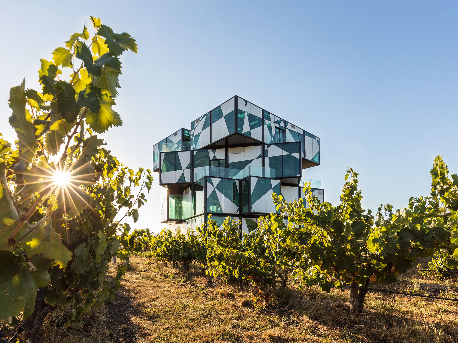 That Crazy Rubik's Cube-Like Wine Tasting Room Is Finally Open (and Here's the Video to Prove It)