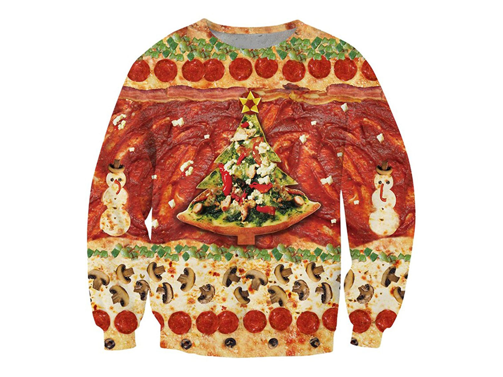 pizza christmas sweater