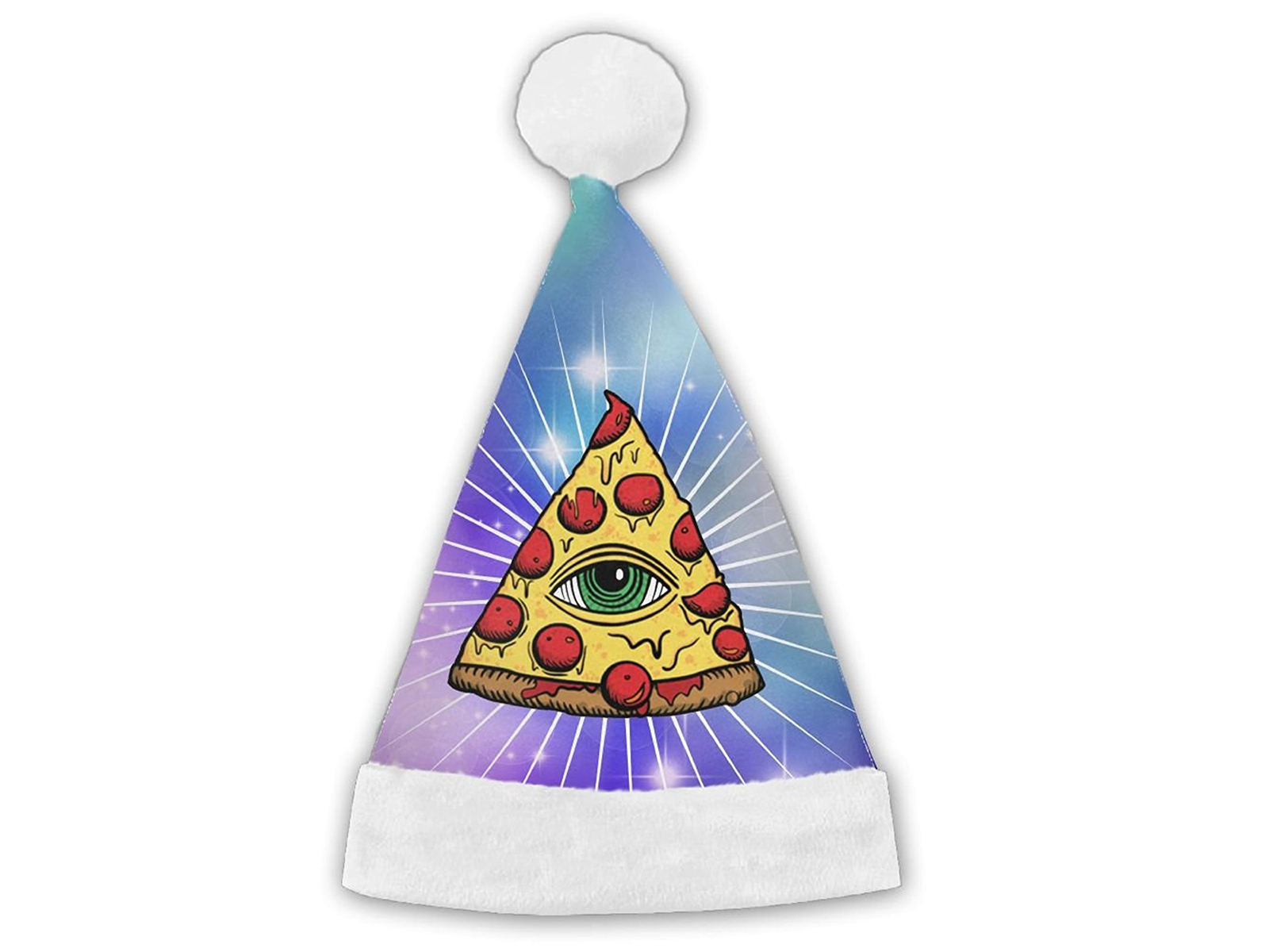 pizza slice santa hat