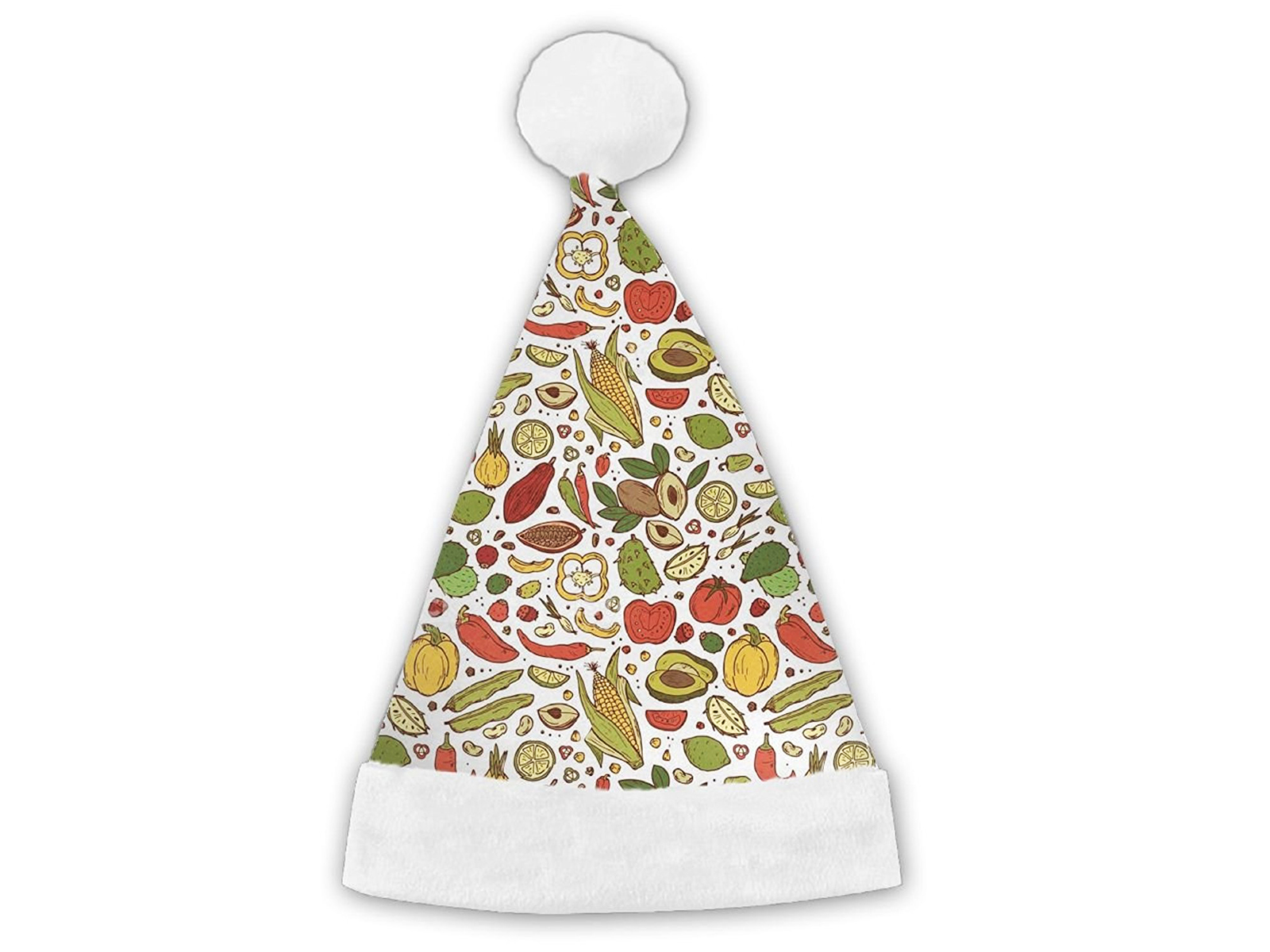 veggie themed santa hat