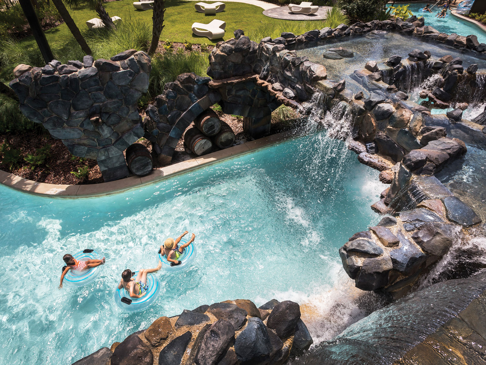 the lazy river at the four seasons in orlando