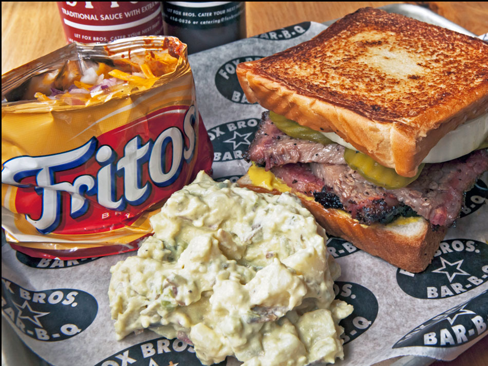 big tex sandwich from fox bros in atlanta