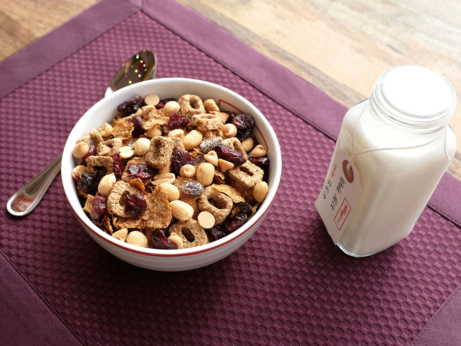 nutty parfait cereal bowl