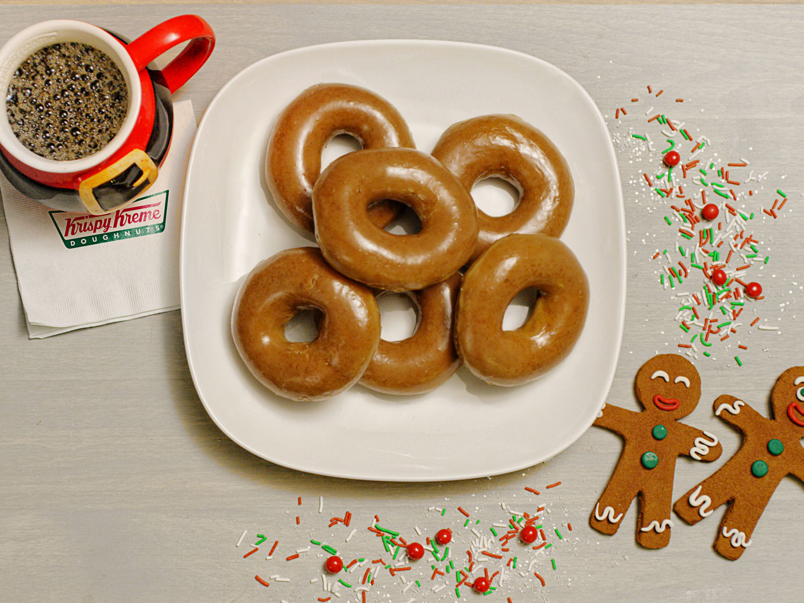 Krispy Kreme Is Making a Gingerbread Glazed Doughnut for One Day Only