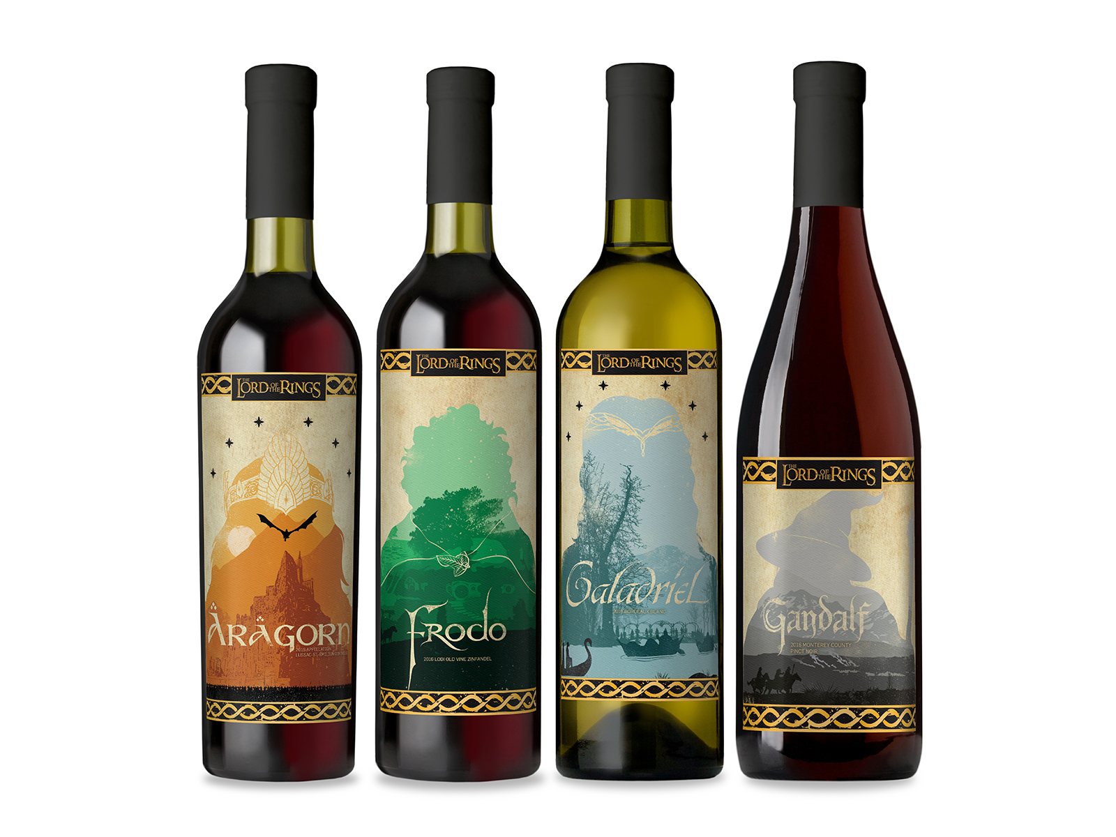 lord of the rings wine bottles by lot18 wine