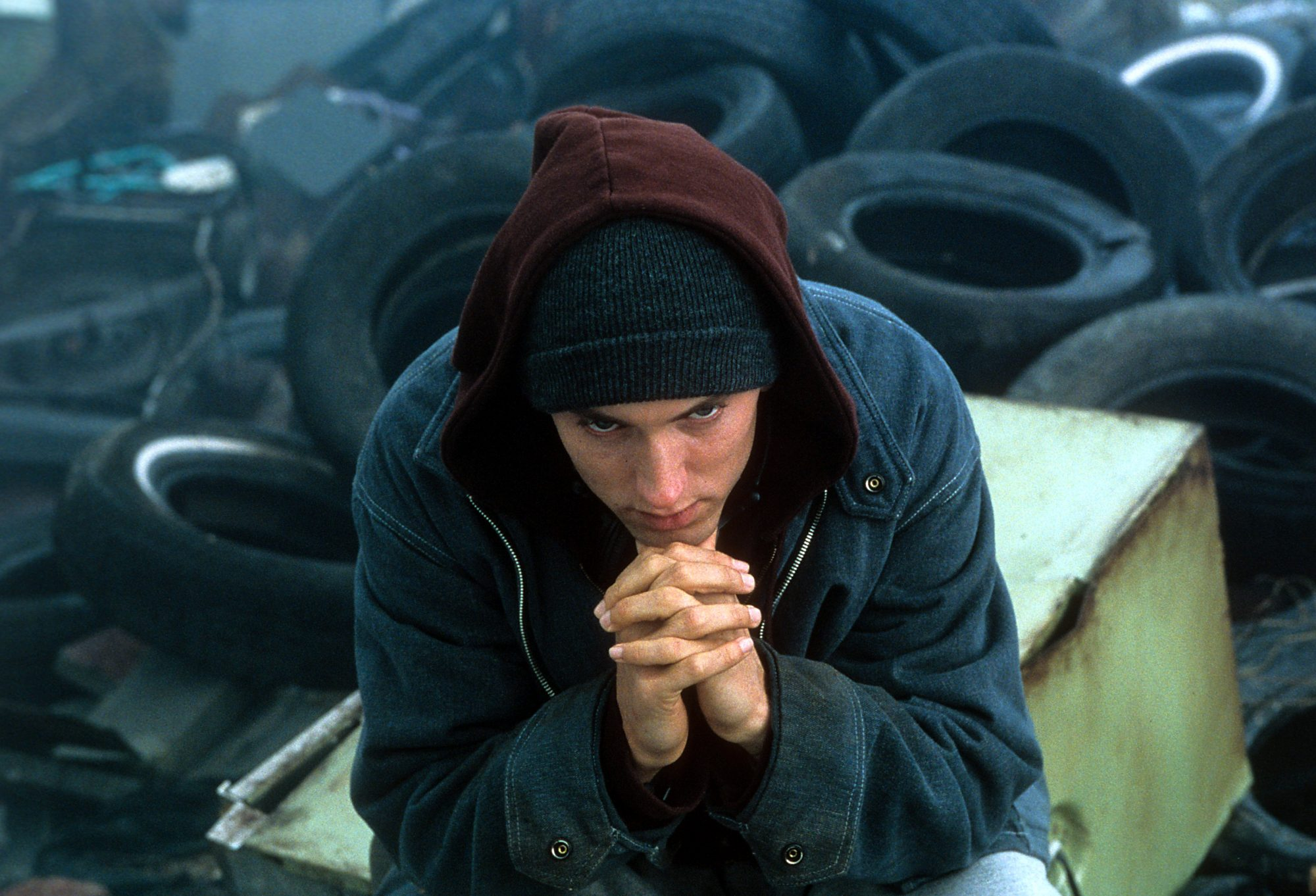 Eminem in the film '8 Mile'