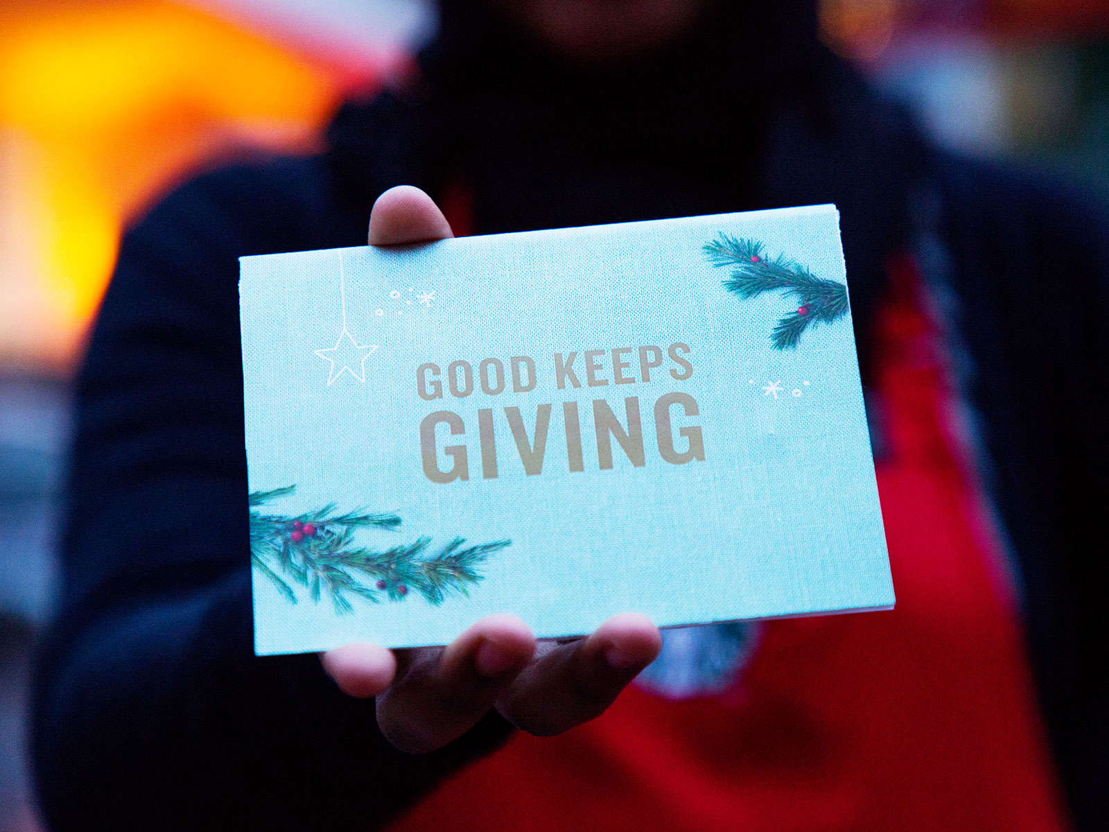starbucks project give good for the holidays
