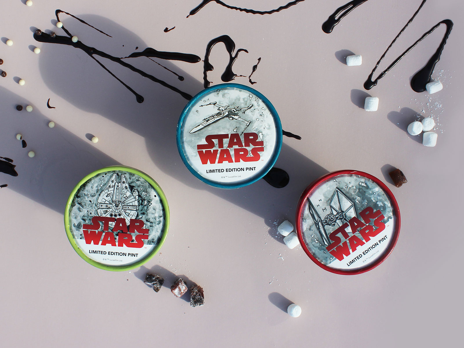 star wars ice cream overhead
