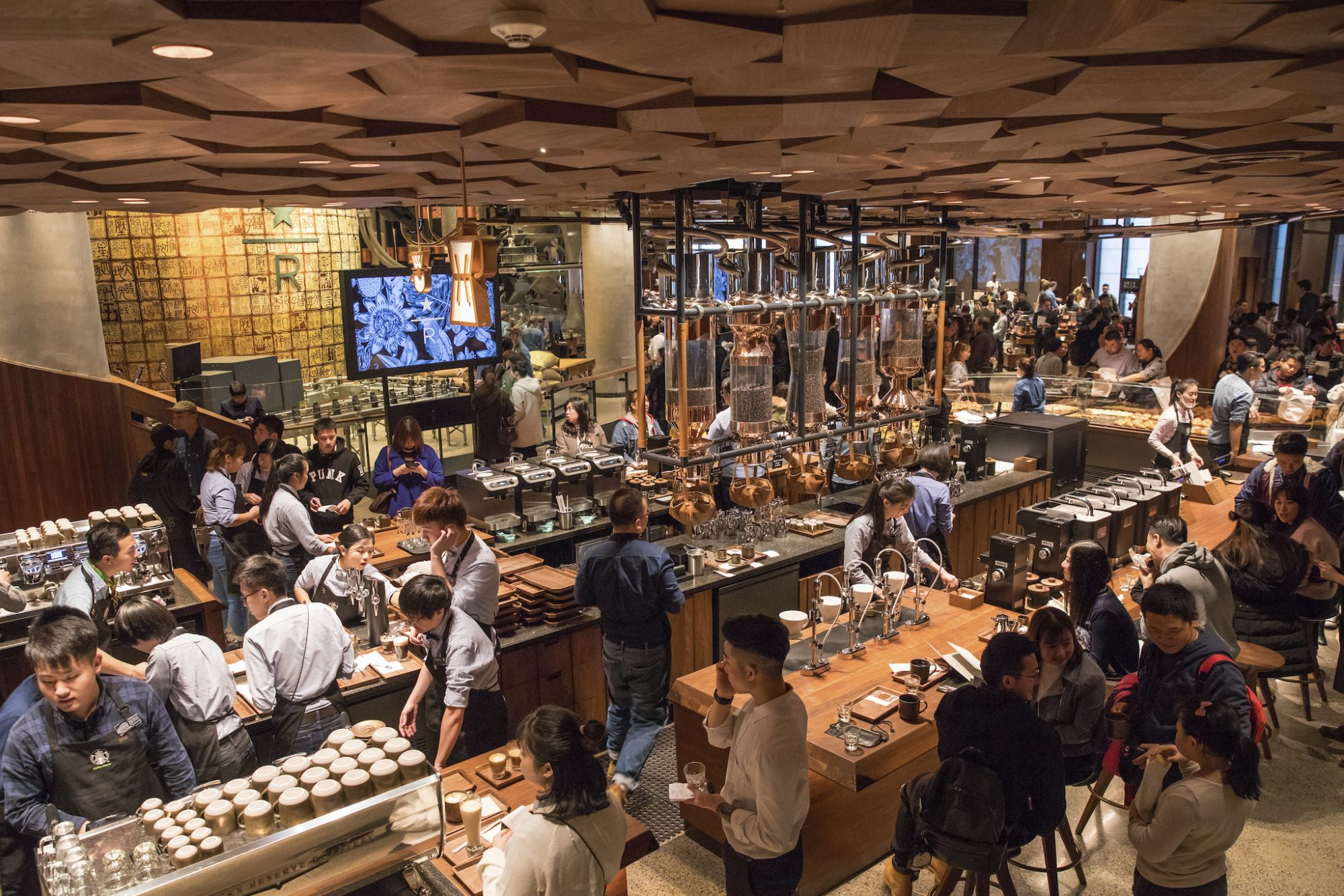 Starbucks' New Shanghai Store Is an Over-the-Top Coffee Wonderland