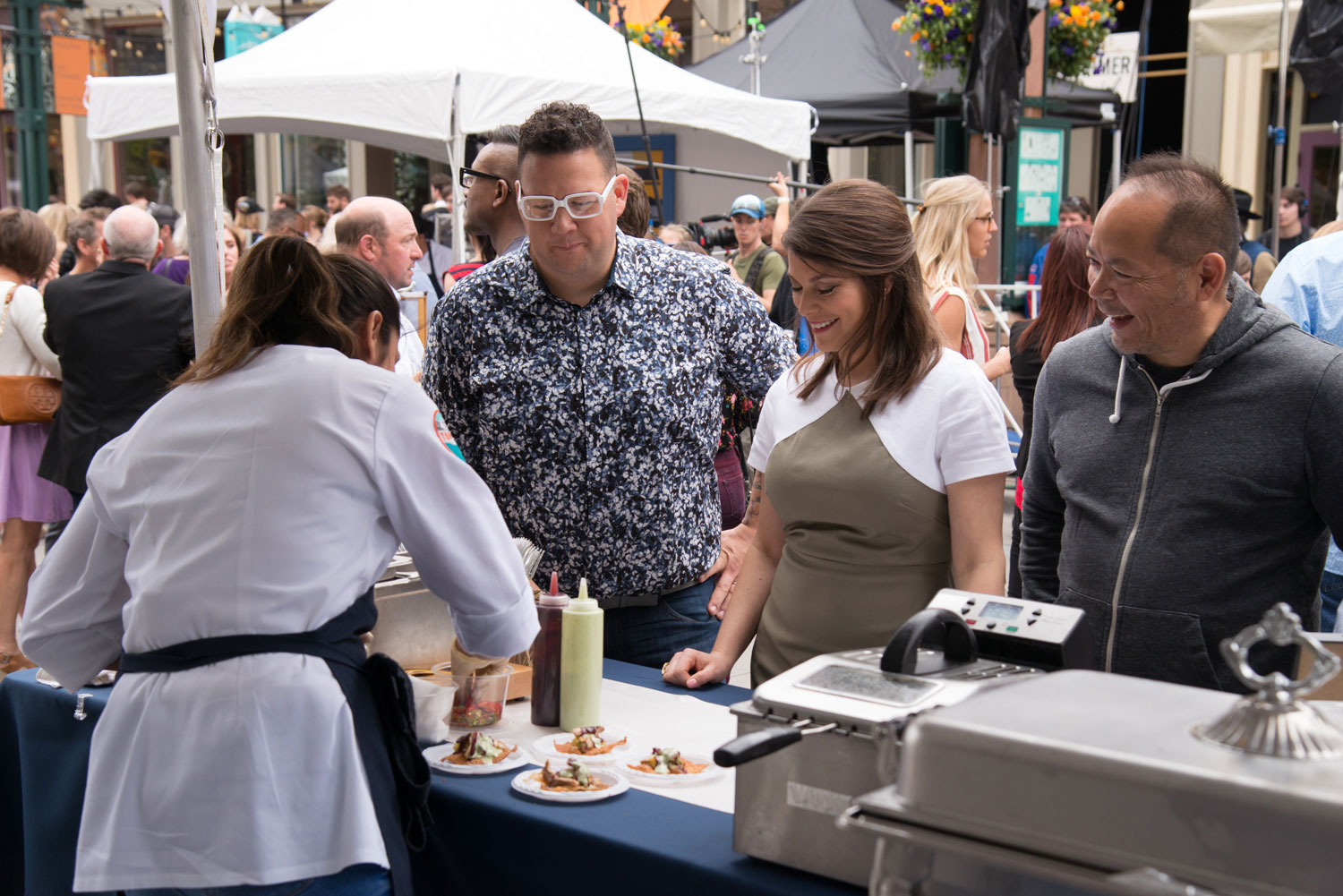 Graham Elliot and Gail Simmons in the Top Chef Season 15 premiere