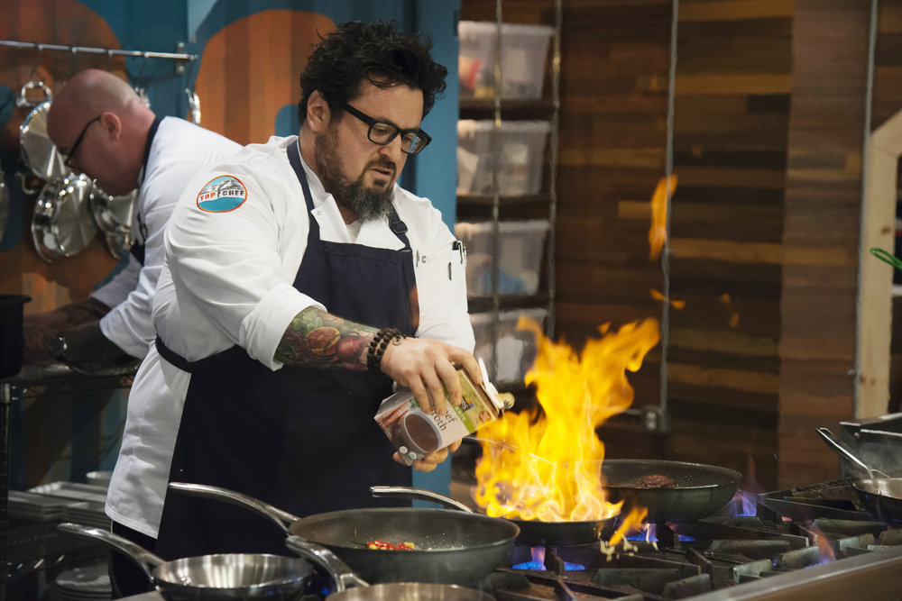 "Chef Bruce Kalman fires things up in episode 2 of ""Top Chef."""