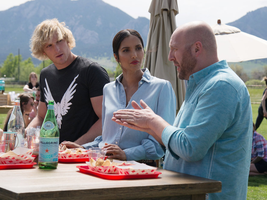 Hosea, Padma, and Logan Paul on Top Chef season 15.