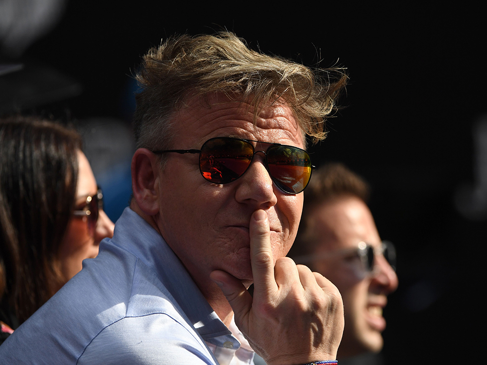Gordon Ramsay cling wrap ferrari speeding