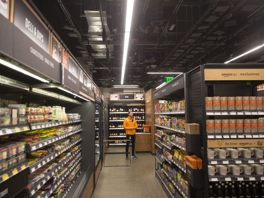 Amazon Go Grocery Store inside