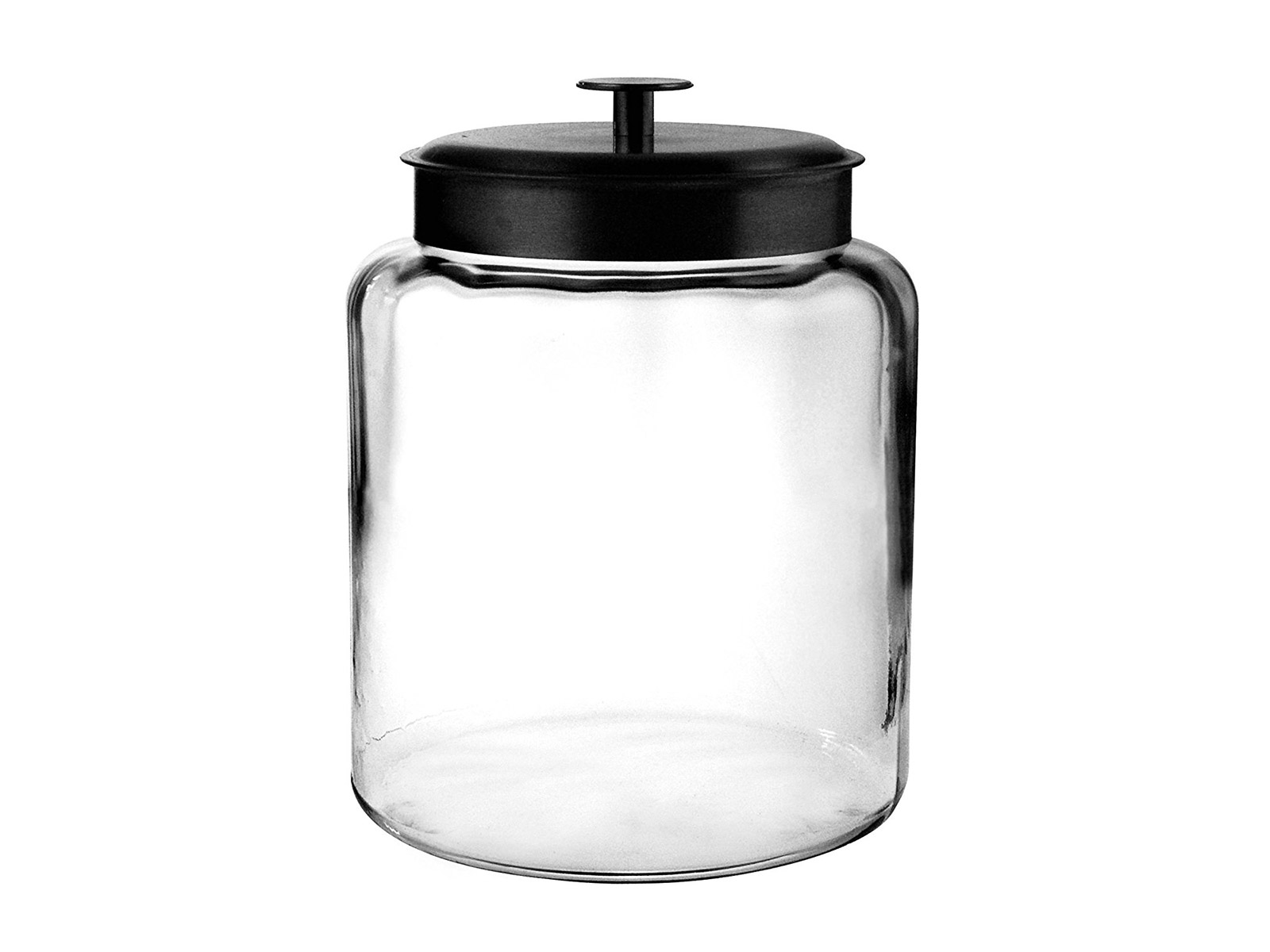 heavy duty jar with black lid