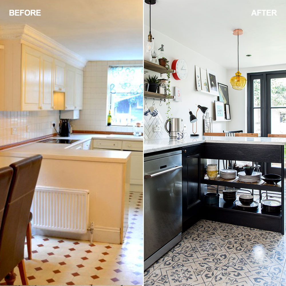 Before and after: See how a narrow kitchen was transformed without an extension