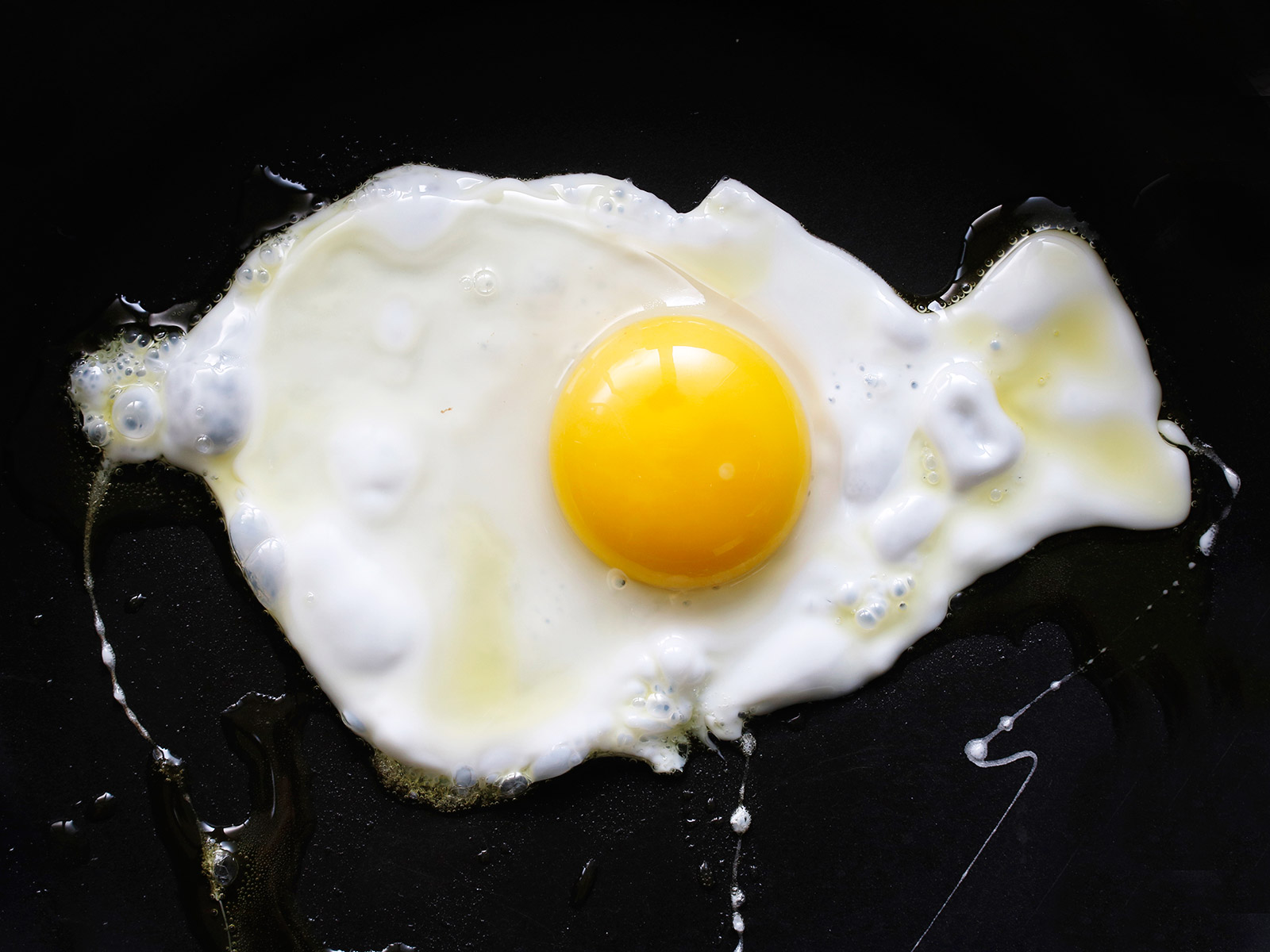 fried egg overhead