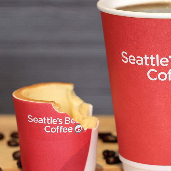 6 Coffee Cups Made Out Of Food Wine